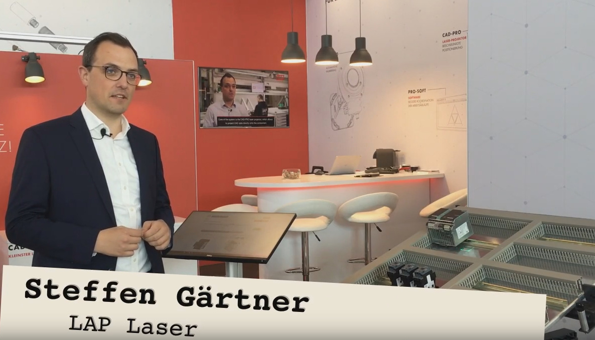 Steffen Gärtner explaines in a video interview the ASSEMBLY PRO system at MOTEK
